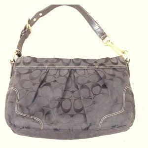 💕 Coach black jacquard fabric hobo purse 💕